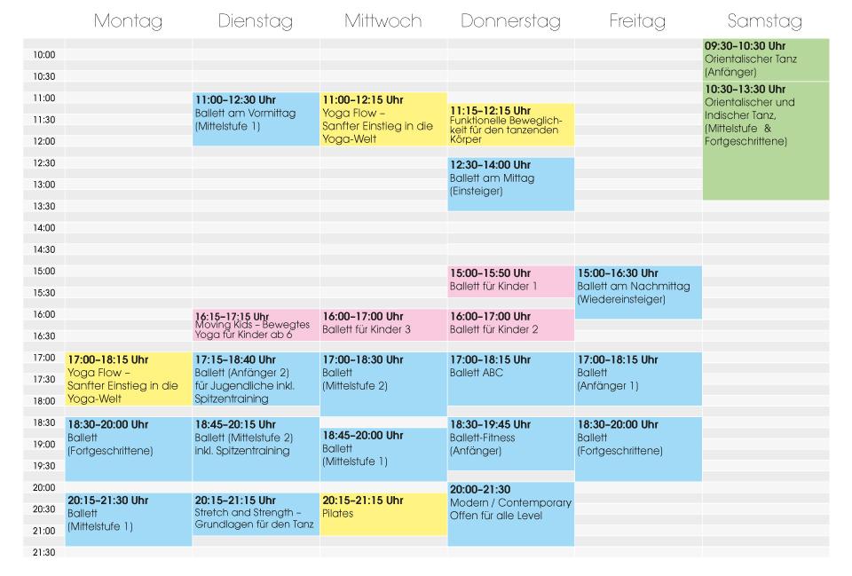 Stundenplan Ballettstudio Durukan 2019 07